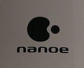 ナノケアスチーマーの本体ロゴ